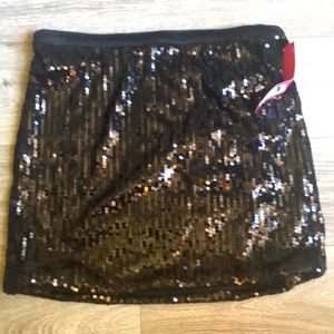 Sequin Mini Skirt Size L